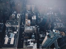 οικοδόμηση του νέου κράτους ΗΠΑ Υόρκη του Μανχάτταν αυτοκρατοριών Στοκ εικόνα με δικαίωμα ελεύθερης χρήσης