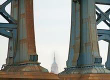 οικοδόμηση του νέου κράτους ΗΠΑ Υόρκη του Μανχάτταν αυτοκρατοριών Στοκ φωτογραφία με δικαίωμα ελεύθερης χρήσης