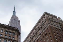 οικοδόμηση του νέου κράτους ΗΠΑ Υόρκη του Μανχάτταν αυτοκρατοριών Στοκ Φωτογραφία