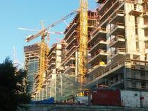 Οικοδόμηση των πύργων Luxary στο Τελ Αβίβ Στοκ Φωτογραφίες