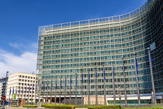 Οικοδόμηση Berlaymont της Ευρωπαϊκής Επιτροπής Στοκ εικόνες με δικαίωμα ελεύθερης χρήσης