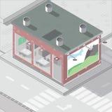 οικοδόμηση isometric Φραγμός στον όγκο Στοκ φωτογραφία με δικαίωμα ελεύθερης χρήσης