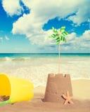 οικοδόμηση sandcastles Στοκ Εικόνες