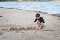 οικοδόμηση sandcastles Στοκ Φωτογραφία