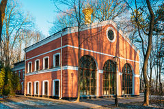 Οικοδόμηση Wintergarden στο πάρκο πόλεων, σε Gomel Στοκ φωτογραφία με δικαίωμα ελεύθερης χρήσης