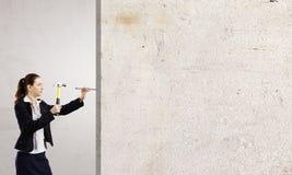 Οικοδόμος γυναικών Στοκ Φωτογραφίες