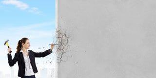 Οικοδόμος γυναικών Στοκ εικόνα με δικαίωμα ελεύθερης χρήσης