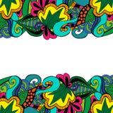 Οικότροφος στοιχείων doodle στα ζωηρά χρώματα Στοκ Εικόνα