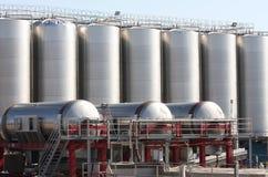 Οινοπαραγωγικό εργοστάσιο σε Zapponeta, Ιταλία στοκ εικόνα