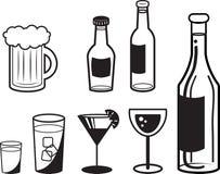 Οινοπνευματώδεις περιλήψεις ποτών Στοκ Εικόνα