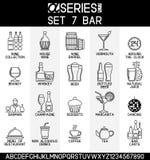 Οινοπνευματώδεις ποτά και φραγμός Στοκ Εικόνες