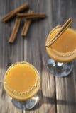 Οινοπνευματώδες ποτό με το χυμό από πορτοκάλι και την κανέλα Στοκ φωτογραφίες με δικαίωμα ελεύθερης χρήσης
