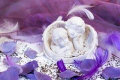 οι άγγελοι παρουσιάζουν το γάμο δύο Στοκ φωτογραφία με δικαίωμα ελεύθερης χρήσης