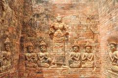 Οι άγγελοι Angkor στο ναό Siem Angkor Wat Angkor Thom συγκεντρώνουν Στοκ Εικόνες