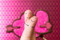 Οι άνθρωποι δάχτυλων αγαπούν Στοκ εικόνα με δικαίωμα ελεύθερης χρήσης