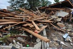 Οι άνθρωποι έχασαν τα σπίτια στη Νέα Υόρκη Seagate στοκ εικόνα