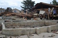Οι άνθρωποι έχασαν τα σπίτια τους στο Seagate στοκ εικόνα