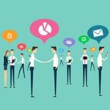 Οι άνθρωποι απασχολούνται στο διάνυσμα σύνδεσης επιχειρησιακών επικοινωνιών Στοκ Εικόνες
