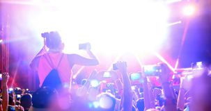 Οι άνθρωποι απολαμβάνουν τη συναυλία στο φεστιβάλ στοκ εικόνα