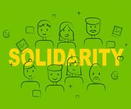 Οι άνθρωποι αλληλεγγύης σημαίνουν την αμοιβαία υποστήριξη και συμφωνούν Στοκ εικόνες με δικαίωμα ελεύθερης χρήσης