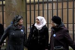 Οι άνθρωποι αλυσοδένουν για τους Εβραίους στη Δανία Στοκ φωτογραφίες με δικαίωμα ελεύθερης χρήσης