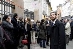 Οι άνθρωποι αλυσοδένουν για τους Εβραίους στη Δανία Στοκ Φωτογραφίες