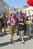 Οι άνθρωποι γιορτάζουν την ημέρα οδών του Christopher Στοκ εικόνα με δικαίωμα ελεύθερης χρήσης