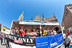 Οι άνθρωποι γιορτάζουν το Christopher Στοκ φωτογραφίες με δικαίωμα ελεύθερης χρήσης