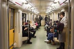 Οι άνθρωποι είναι στη Μόσχα uderground Στοκ φωτογραφίες με δικαίωμα ελεύθερης χρήσης