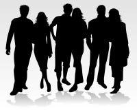 οι άνθρωποι ζευγών σκιαγ ελεύθερη απεικόνιση δικαιώματος
