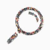 οι άνθρωποι διαμορφώνουν την ενίσχυση - γυαλί Στοκ εικόνα με δικαίωμα ελεύθερης χρήσης