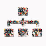 οι άνθρωποι διαμορφώνουν την ιεραρχία σημαδιών Στοκ φωτογραφίες με δικαίωμα ελεύθερης χρήσης