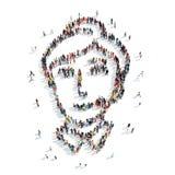 οι άνθρωποι διαμορφώνουν το γραμματέα ατόμων Στοκ εικόνες με δικαίωμα ελεύθερης χρήσης