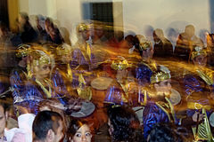 Οι άνθρωποι μεταμφίεσαν 24. - Ορχήστρα πνευστ0ών από χαλκό Στοκ φωτογραφία με δικαίωμα ελεύθερης χρήσης