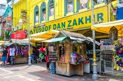 Οι άνθρωποι μπορούν βλέπω περπάτημα και αγορές γύρω από τον περίπατο Kasturi παράλληλα με την κεντρική αγορά, Κουάλα Λουμπούρ Στοκ φωτογραφίες με δικαίωμα ελεύθερης χρήσης