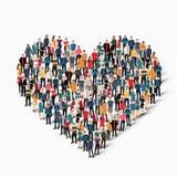 Οι άνθρωποι ομάδας διαμορφώνουν την αγάπη καρδιών Στοκ Εικόνα
