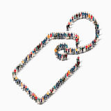Οι άνθρωποι ομάδας διαμορφώνουν την ετικέττα Στοκ εικόνες με δικαίωμα ελεύθερης χρήσης