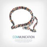 Οι άνθρωποι ομάδας διαμορφώνουν τις φυσαλίδες συνομιλίας Στοκ εικόνα με δικαίωμα ελεύθερης χρήσης