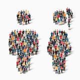 Οι άνθρωποι ομάδας διαμορφώνουν το άτομο Στοκ Εικόνες