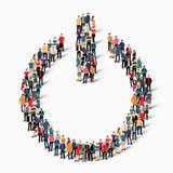 Οι άνθρωποι ομάδας διαμορφώνουν το διακόπτη Στοκ Φωτογραφίες