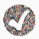Οι άνθρωποι ομάδας διαμορφώνουν checkmark Στοκ φωτογραφίες με δικαίωμα ελεύθερης χρήσης