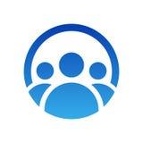 Οι άνθρωποι ομαδοποιούν το σχέδιο λογότυπων Διανυσματική απεικόνιση εικονιδίων Σύμβολο εργασίας ομάδας που απομονώνεται Στοκ εικόνες με δικαίωμα ελεύθερης χρήσης