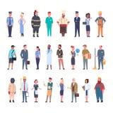 Οι άνθρωποι ομαδοποιούν τη διαφορετική συλλογή επαγγέλματος εργαζομένων επαγγέλματος καθορισμένη ελεύθερη απεικόνιση δικαιώματος