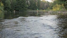 Οι άνθρωποι λούζουν στον ποταμό απόθεμα βίντεο