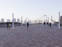 Οι άνθρωποι περπατούν σε Odaiba, Τόκιο Στοκ φωτογραφίες με δικαίωμα ελεύθερης χρήσης