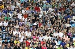 οι άνθρωποι ποδοσφαιρι&kapp Στοκ εικόνα με δικαίωμα ελεύθερης χρήσης