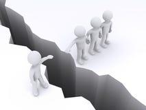 Οι άνθρωποι προσφέρουν τη βοήθεια σε άλλη για να διασχίσουν το χάσμα διανυσματική απεικόνιση