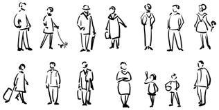 οι άνθρωποι σκιαγραφούν Στοκ εικόνα με δικαίωμα ελεύθερης χρήσης