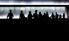 Οι άνθρωποι σκιαγραφούν Στοκ Φωτογραφίες