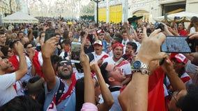 Οι άνθρωποι στην εθνική ομάδα ποδοσφαίρου του Περού φορούν απόθεμα βίντεο